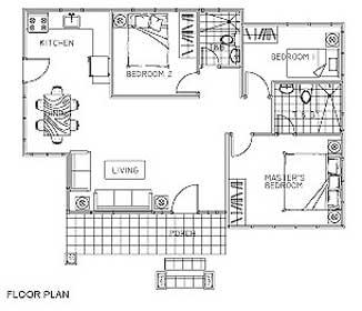 Single detached bungalow house floor plan thefloors co for Single detached house floor plan